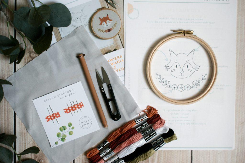 zestaw startowy do haftowania wyszywania nauka haftu ręcznego