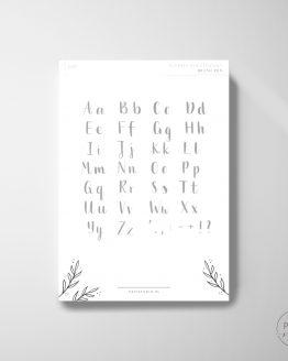 darmowy arkusz ćwiczeń kaligrafia nowoczesna brush pen lettering