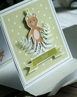 kartka handmade ręcznie robiona na urodzinki dla dziecka