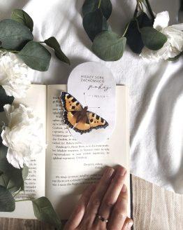 zakładka do księżki motyl motylek z cytatem Pismo Święte