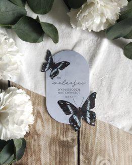 zakładka do książki motyl z motylem akwarelowa papilio nireus